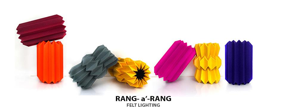 Rang-a-Rang felt lighting by Mojiana