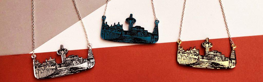 Acrylic Jewellery by Mojiana, Brighton Skyscape i360