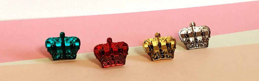 Acrylic Jewellery by Mojiana, Crown Jewels Brooches