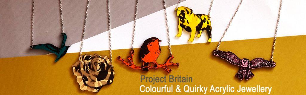 Project Britain Acrylic Jewellery by Mojiana