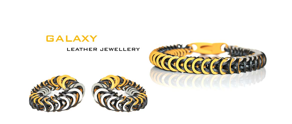 Galaxy leather jewellery by Mojiana