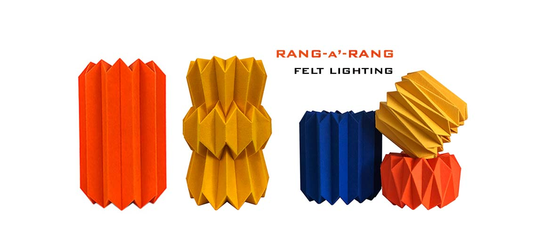 Rang a Rang felt lighting by Mojiana
